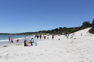 Carmel's white sandy beach